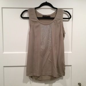 Dressy Taupe and Silver Tank